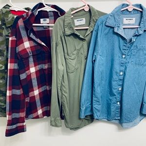Bundle of 4 Long Sleeve Button Up Shirts